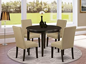 East West Furniture 5Pc Round 42