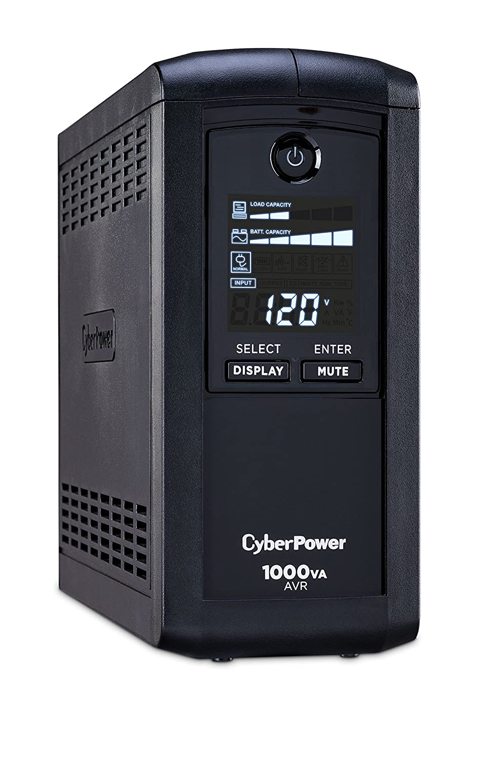 CyberPower CP1000AVRLCD Intelligent LCD Series UPS 1000VA 600W AVR Mini-Tower
