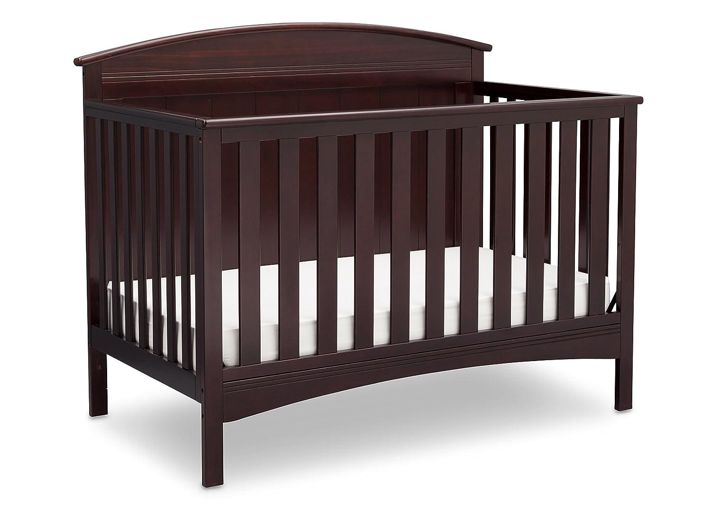 Delta Children Archer Solid Panel 4-in-1 Convertible Baby Crib, Grey 540330-026