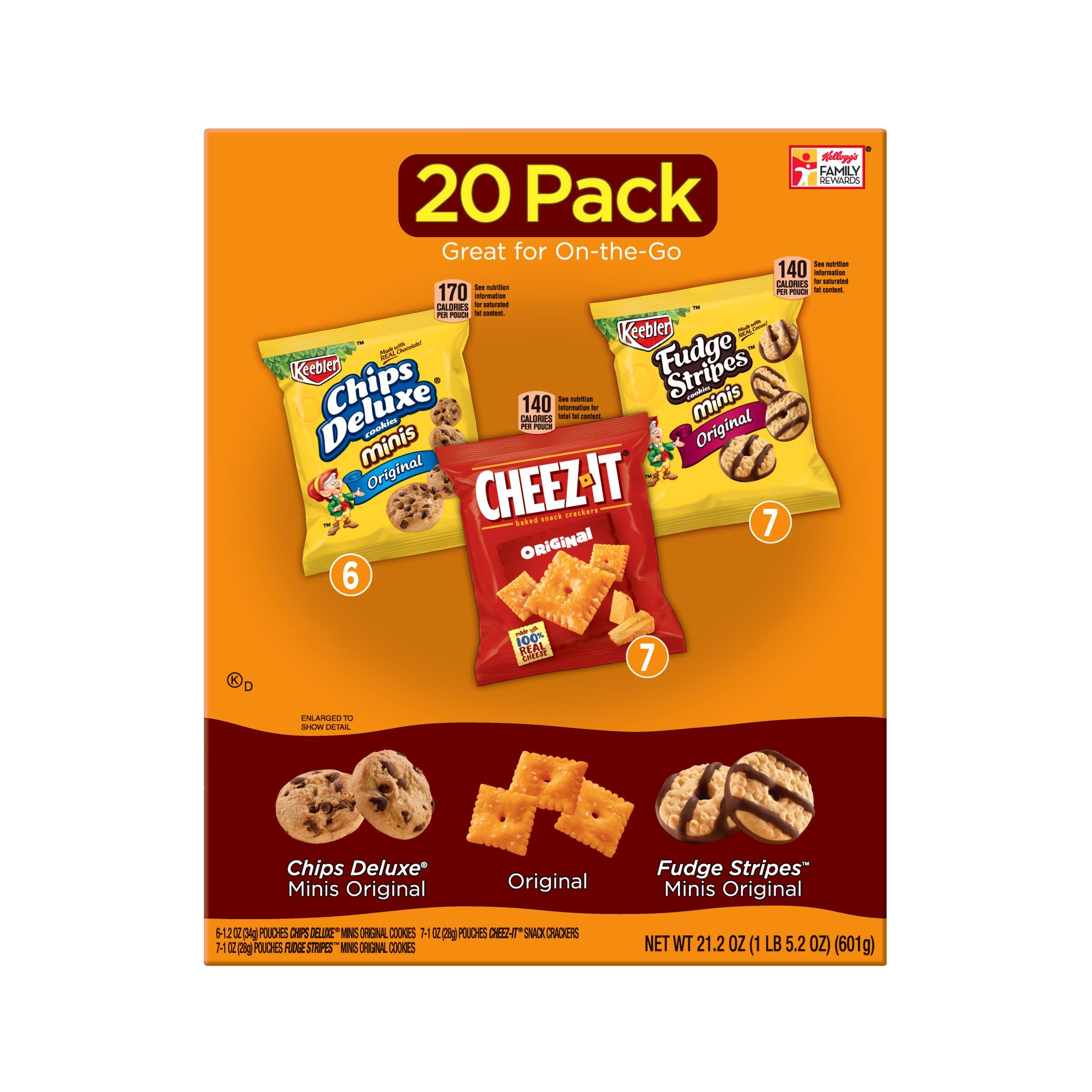 Keebler, Cookies and Crackers, Variety Pack, 21.2 oz (20 Count)