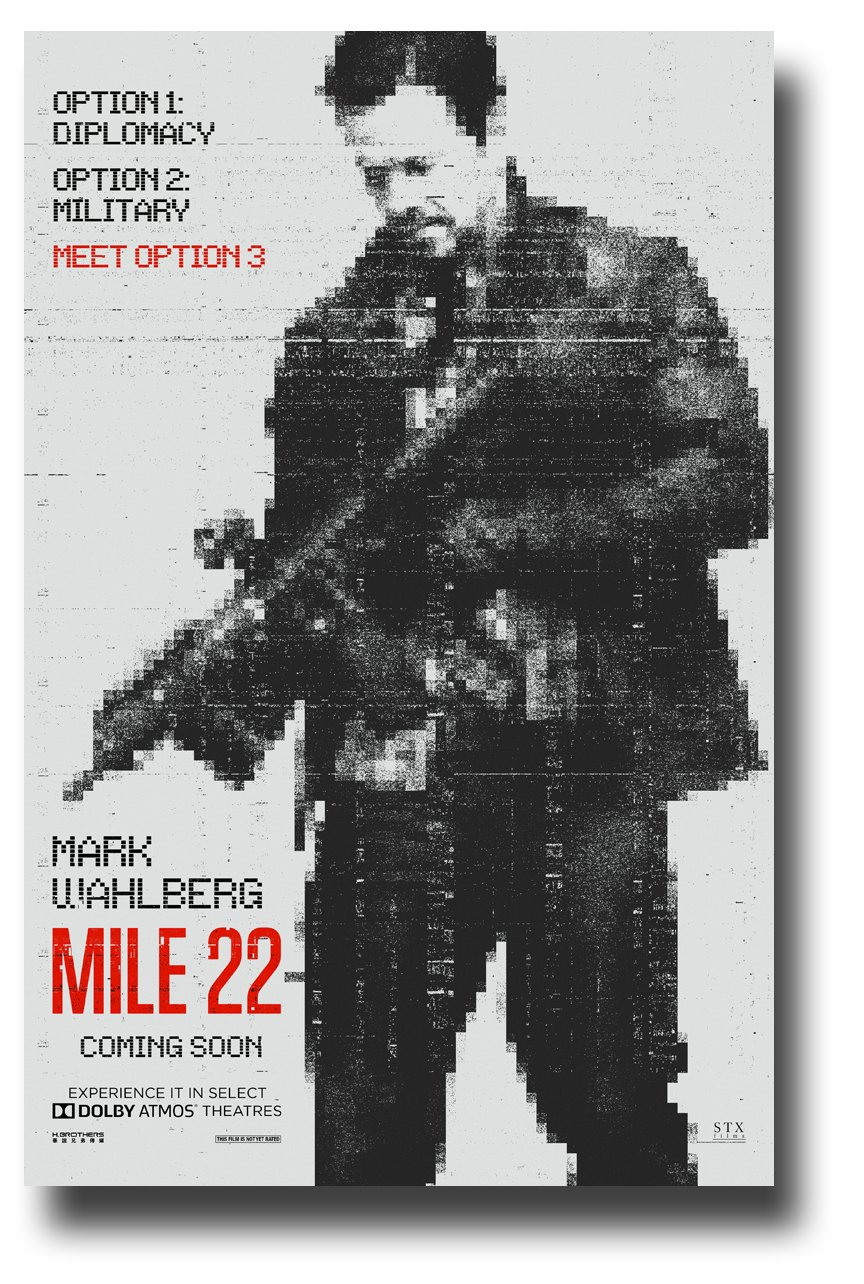 Mile 22 Poster Movie Promo 11 x 17 inches Mark Wahlberg Main