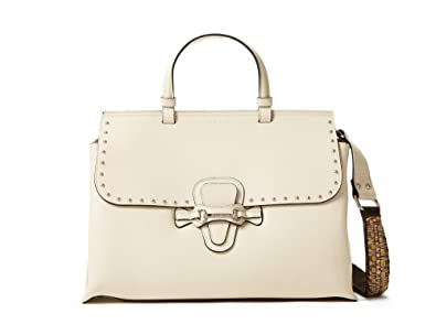 7e877b20d9 Amazon.com: Valentino by Mario Valentino Olympia Leather Satchel with Woven  Strap - Black: Shoes