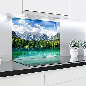 HitGlass Küchen-Glas-Spritzschutz, Platten, hitzebeständig ...