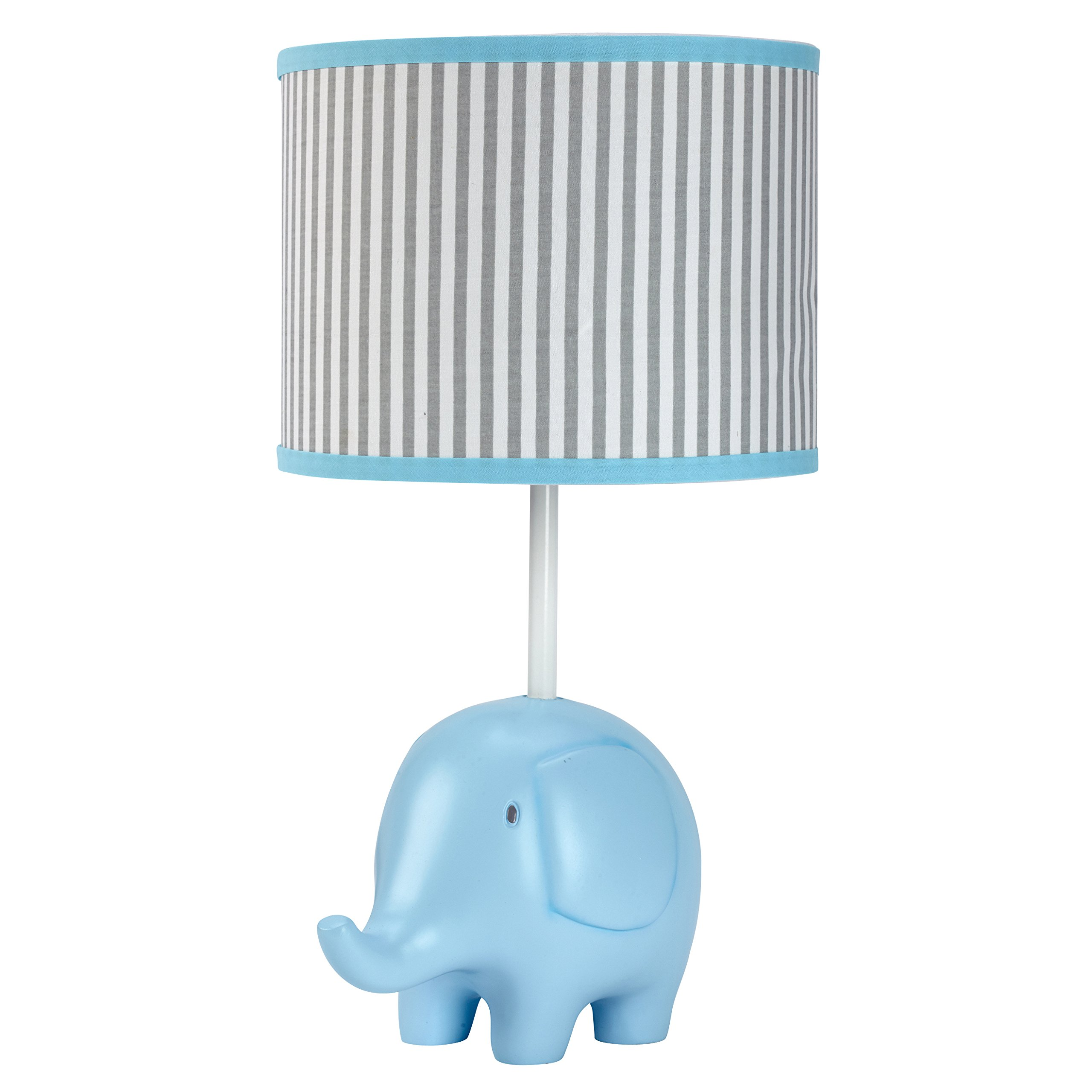 Zutano Elefant Blau Lamp and Shade, White/Blue/Grey by Zutano