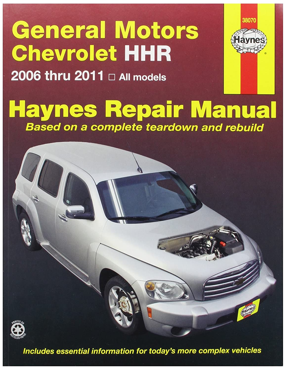 Amazon.com: Haynes Repair Manuals GM: Chevrolet HHR 2006-2011 (38070):  Automotive