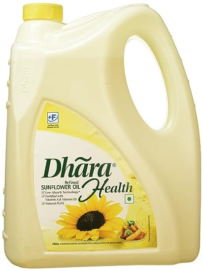 Dhara Refined Sunflower Oil, 5L