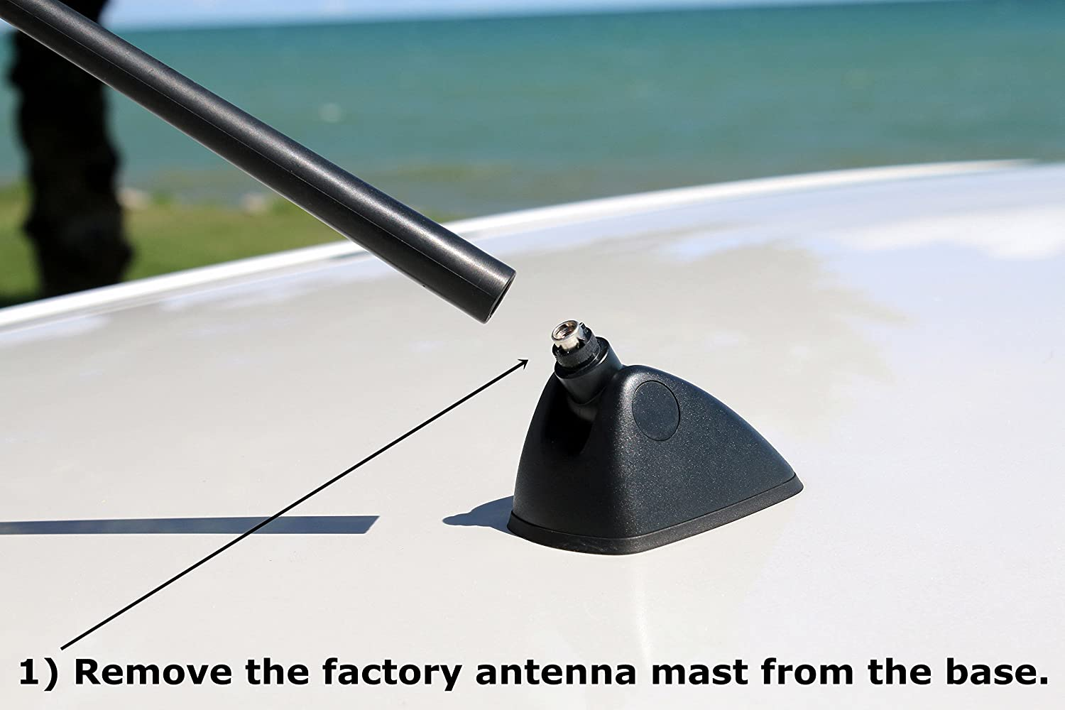 AntennaMastsRus AM-FM Roof Antenna Mast is Compatible with Subaru Impreza WRX 2008-2016