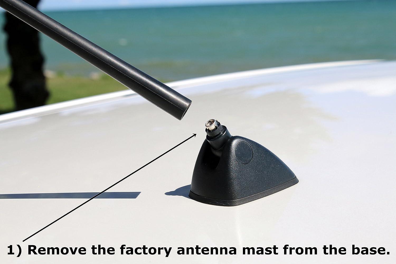 Antennamastsrus Functional Black Shark Fin Antenna 1999 Honda Accord Works With Cr V 2007 2017 Car Electronics