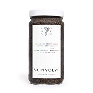 Skinvolve Phoenician Secret Scrub - All-Natural Cooling Peppermint Body, Foot and Hand Polish - 9 oz