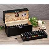J JACKCUBE DESIGN Essential Oil Storage: Essential oils box storage with 66 bottles/oil case storage for travel/oil cases for carrying - MK507A Black