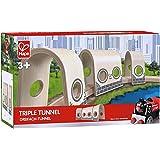 Hape Wooden Railway Triple Tunnel Set