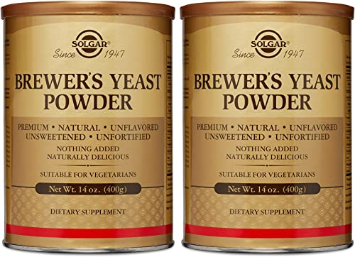 Solgar Brewer s Yeast Powder, 14 oz – 2 Pack – Rich Source of Amino Acids, B-Complex Vitamins, Minerals, Protein – Natural, Unflavored, and Unsweetened – Dairy Free, Vegetarian – 26 Servings