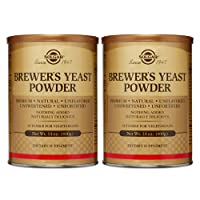 Solgar Brewer's Yeast Powder, 14 oz - 2 Pack - Rich Source of Amino Acids, B-Complex...