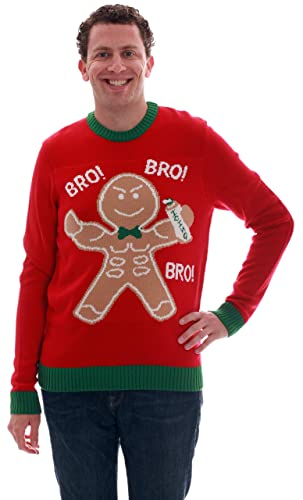 Blueberi Boulevard Mens Ugly Christmas Sweater - Sweaters for Men AMB55018-L