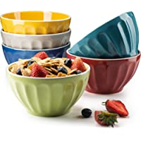 6-Set KooK Ceramic Bowls (Assorted Colors)