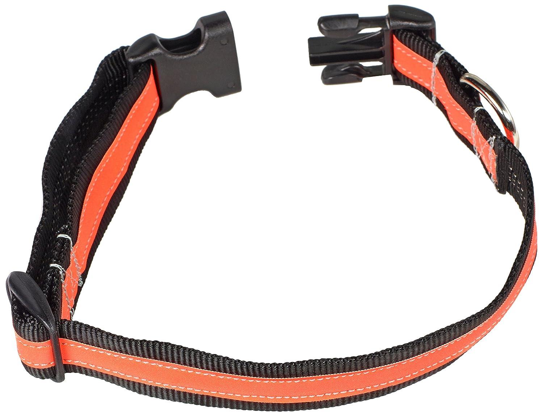 Black orange Small Black orange Small Petflect Reflective AdventurePlay Collar, Black orange, Small