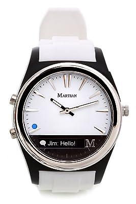 Martian Watches Notifier Smartwatch, White