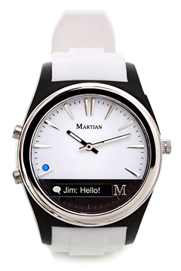 d41c3aef503 Amazon.com  Martian Watches Notifier Smartwatch - White  Cell Phones    Accessories