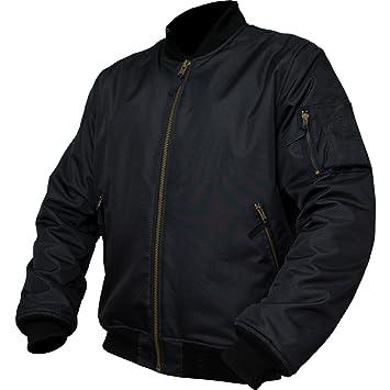 Armr Moto Bomber chaqueta de Moto, negro: Amazon.es ...