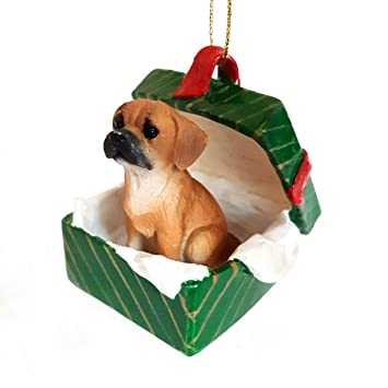 Image Unavailable - Amazon.com: Puggle Gift Box Christmas Ornament Brown - DELIGHTFUL