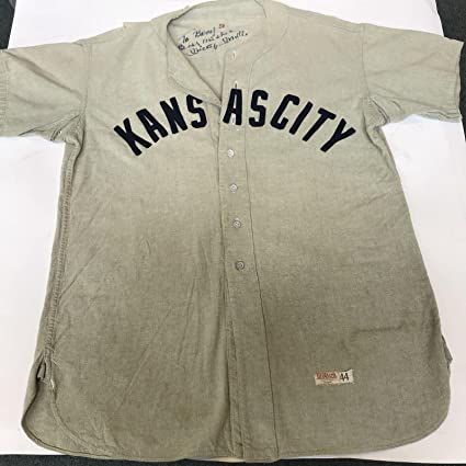 huge discount 93521 dc2bb Mickey Mantle Autographed Jersey - 1951 Kansas City Blues ...