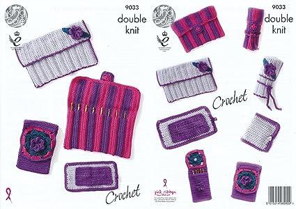 Amazon King Cole Double Knit Crochet Pattern Hook Roll Needle