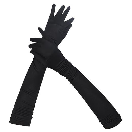 Classic Women Adult Size 22 Long Opera Satin Gloves Stretch Slim