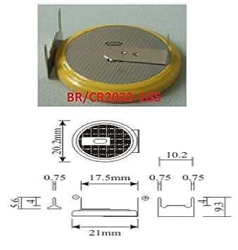 1 pila CMOS/Batería BIOS BR/CR2032 - 1 GS con soldadura para PC Eunicell ventas Alemania V.: Amazon.es: Electrónica