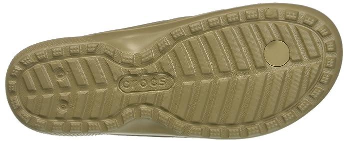 df0302073 Crocs Adults  Classic Flip KHA Open Back Slippers  Amazon.co.uk  Shoes    Bags
