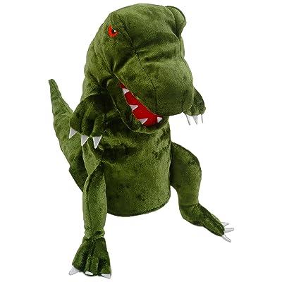 Fiesta Crafts Dinosaur Hand Puppet - Green: Toys & Games