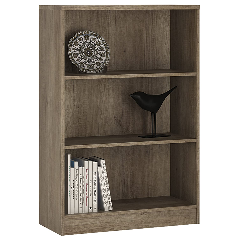 Bookshelf 30cm Wide P/&N Homewares/® Crescita Medium Narrow Bookcase in White Living Room Furniture