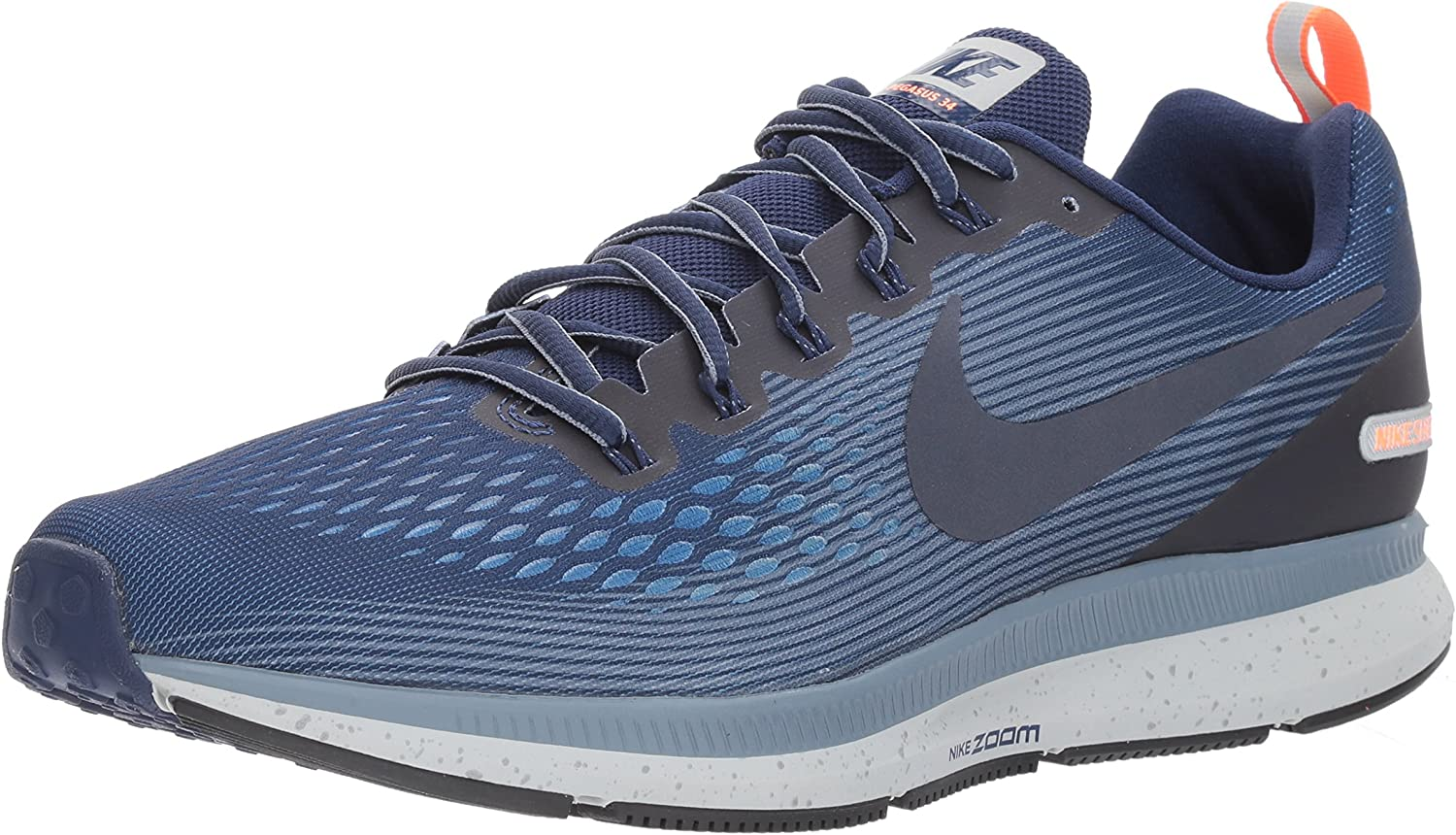 Piquete Mantenimiento enseñar  Amazon.com | Nike Men's Air Zoom Pegasus 34 Shield Running Shoes (11,  Binary Blue/Obsidian/Armory Blue) | Road Running