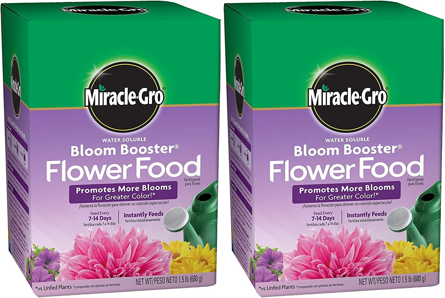 Miracle-Gro Water Soluble Bloom Booster Flower Food Pack of 2