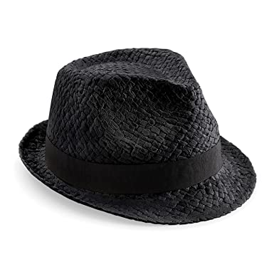 3527387f Beechfield Unisex Straw Festival Trilby Hat: Amazon.co.uk: Clothing