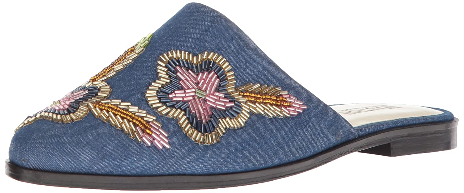 Kenneth Cole REACTION Women's Speed Slip on Flat Floral Embroidery Mule B077KVRFNJ 9.5 B(M) US|Blue