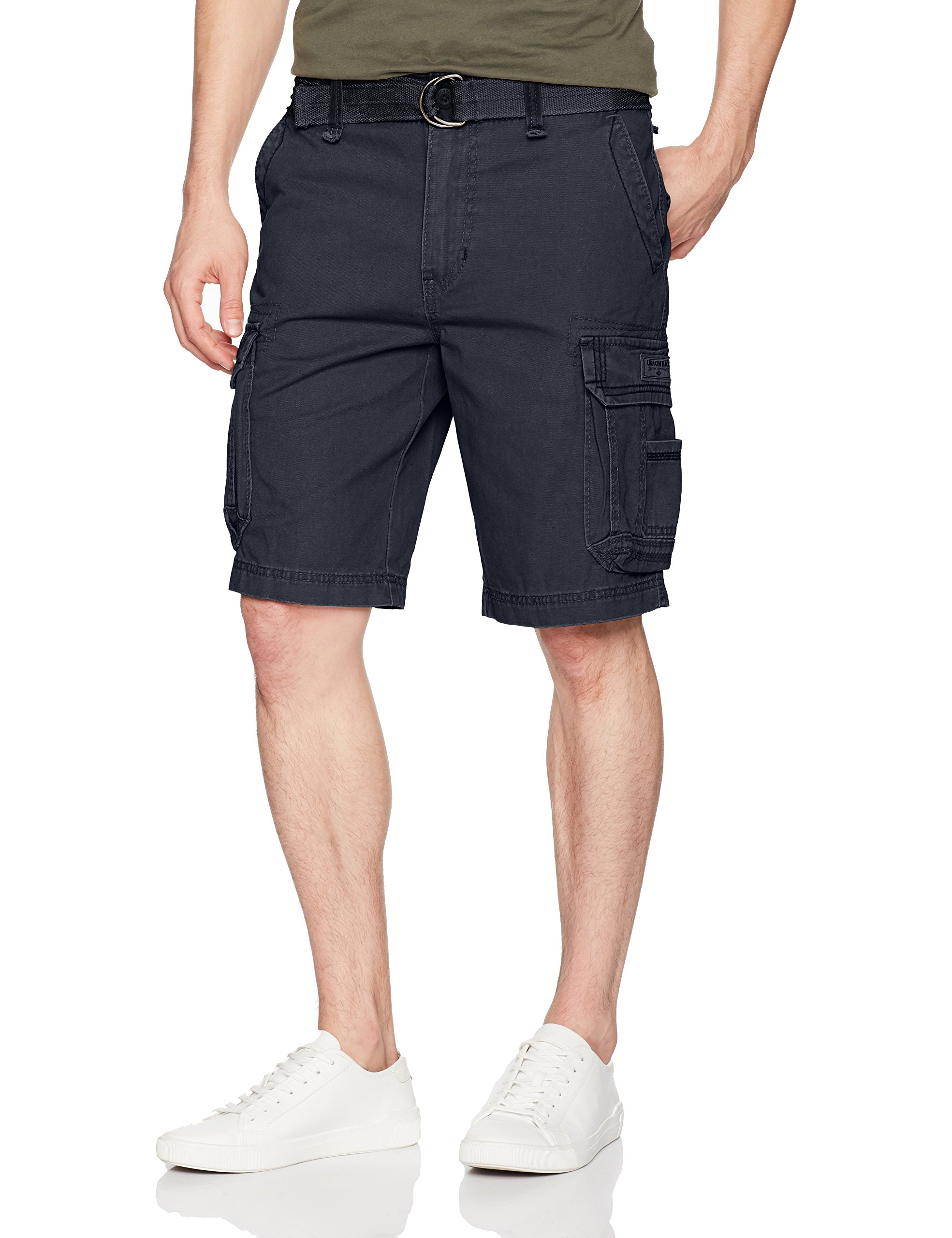 UNIONBAY Men's Survivor Belted Cargo Short-Reg and Big & Tall Sizes, True Navy, 52 by UNIONBAY (Image #1)