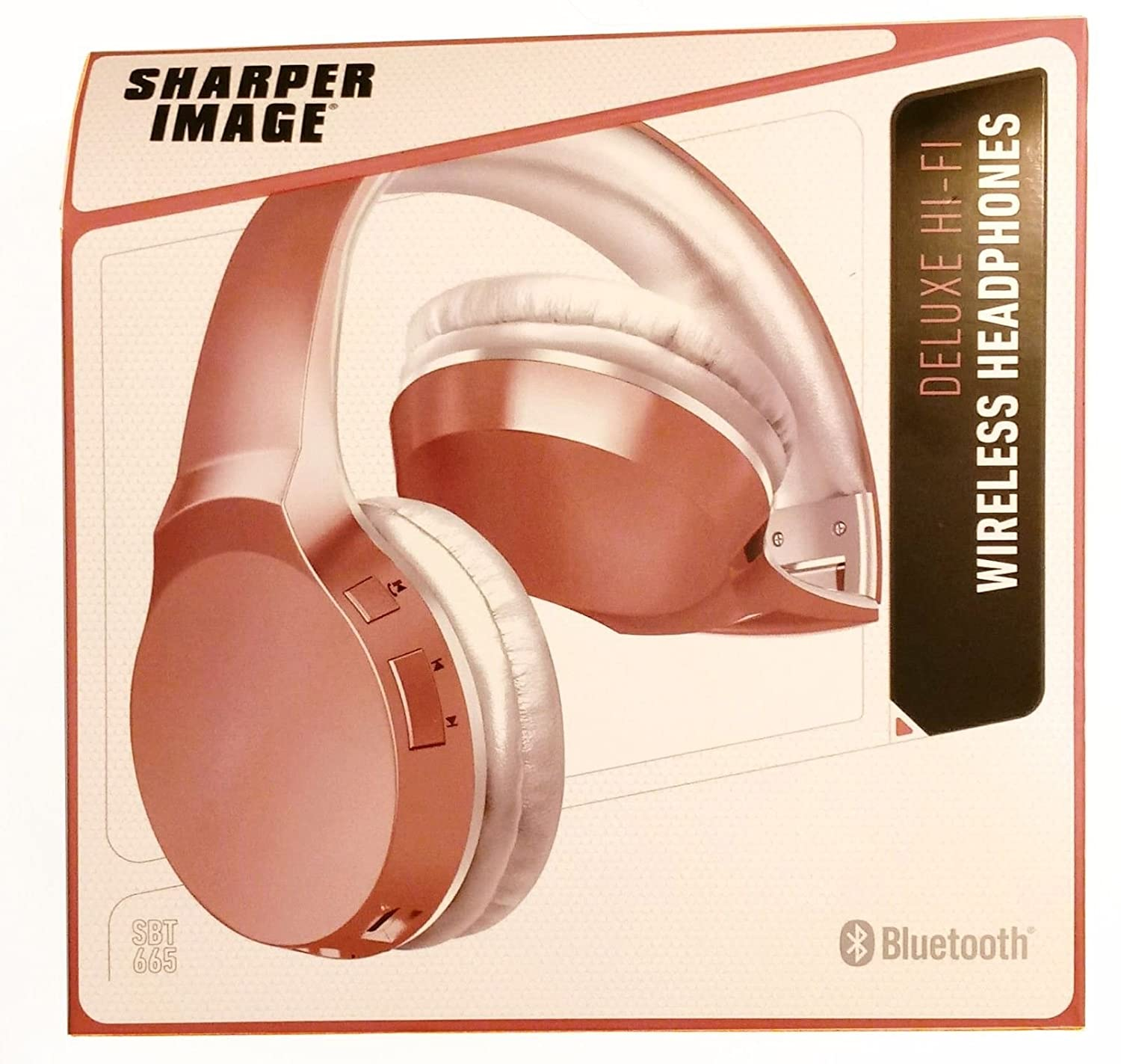 [00020] SHARPER IMAGE Deluxe HI-FI Wireless Headphones (Pink)