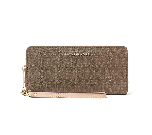 MICHAEL Michael Kors Women\u0027s Jet Set Item Travel Continental Mocha Wallet