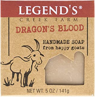 product image for Legend's Creek Farm, Goat Milk Soap, Creamy Lather and Nourishing, Handmade in USA, 5 Oz Bar (Dragon's Blood O.S.)