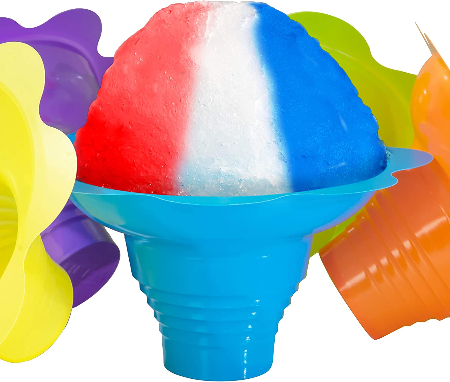 Flower Shaped Snow Cone Cups