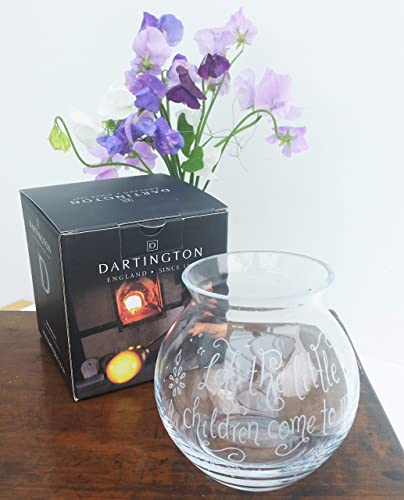 Personalised Glass Vase Engraved Dartington Etched Flower Birthday Gift Ideas For Mum Wedding Her Amazoncouk