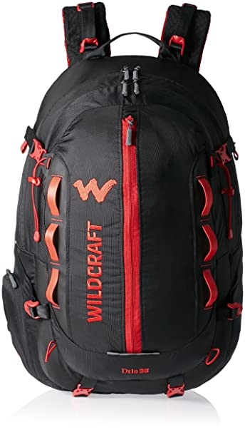 6ab17b9070 Wildcraft HypaDura 35 liters Black Casual Backpack (8903338049449)  Amazon. in  Bags