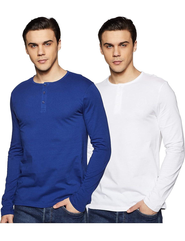 Symbol Men's Solid T-Shirt (Pack of 2)