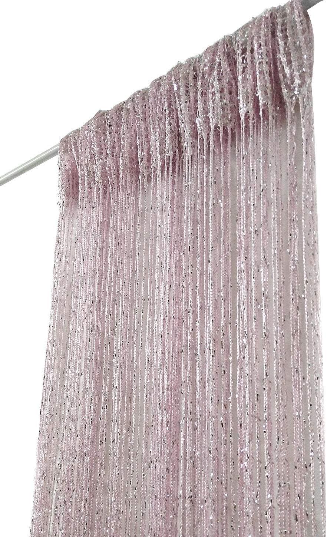 ave split Decorative Door String Curtain Wall Panel Fringe Window Room Divider Blind Divider Tassel Screen Home 100cm200cm (pink18)