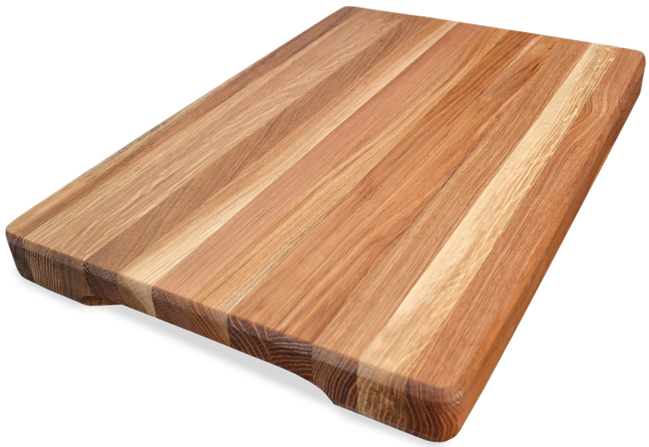 NaturalDesign Cutting Board 16 x 10 x 1.6 inch Edge Grain Chopping Block Wood: Maple & Oak Hardwood Extra Thick Appetizer Serving Platter Durable & Resistant by NaturalDesign (Image #1)