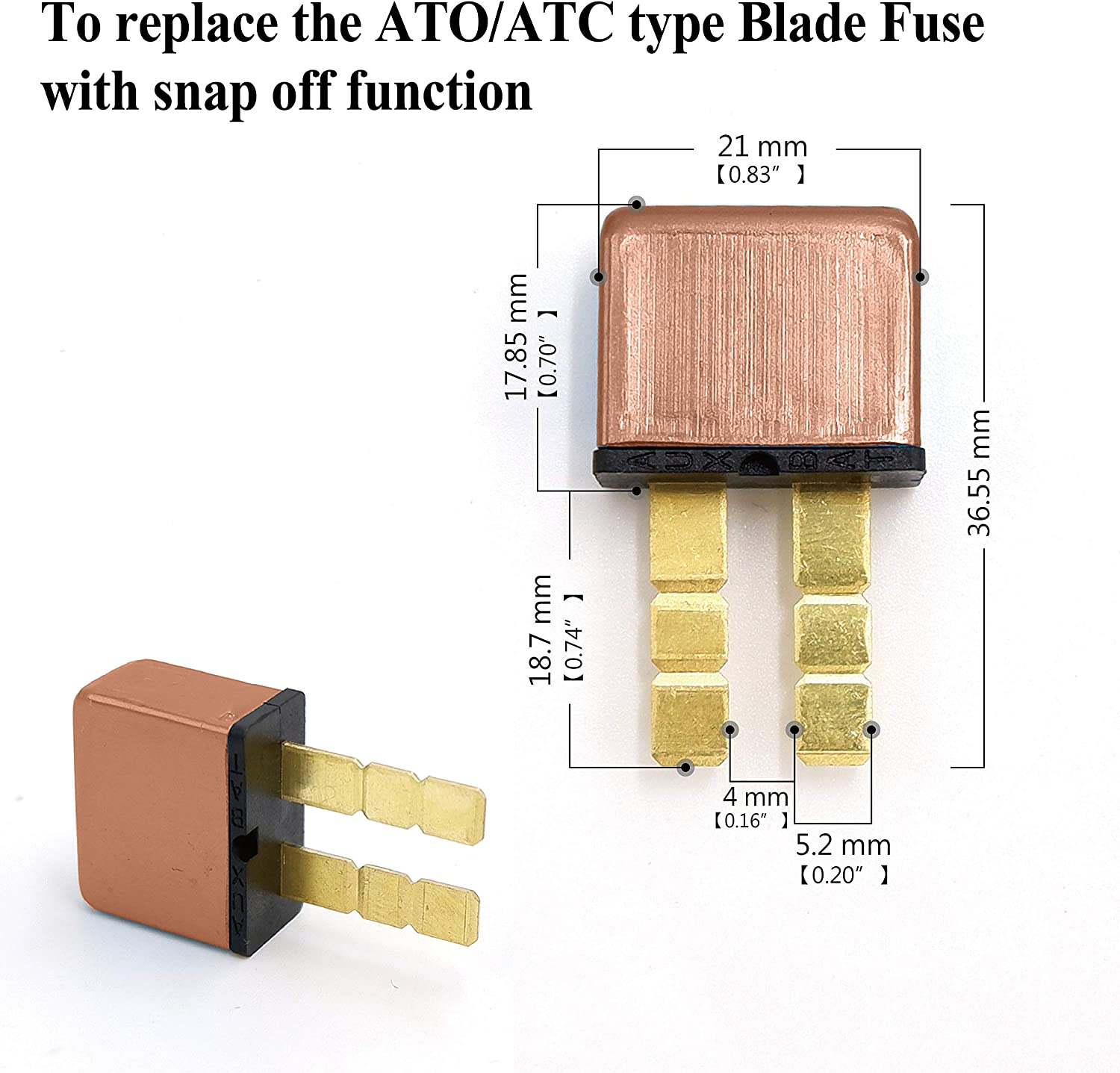 Plug In Mounting Automotive Circuit Breaker PHOTO-TOP 15A ATC Blade Type Terminal Connection 5pcs