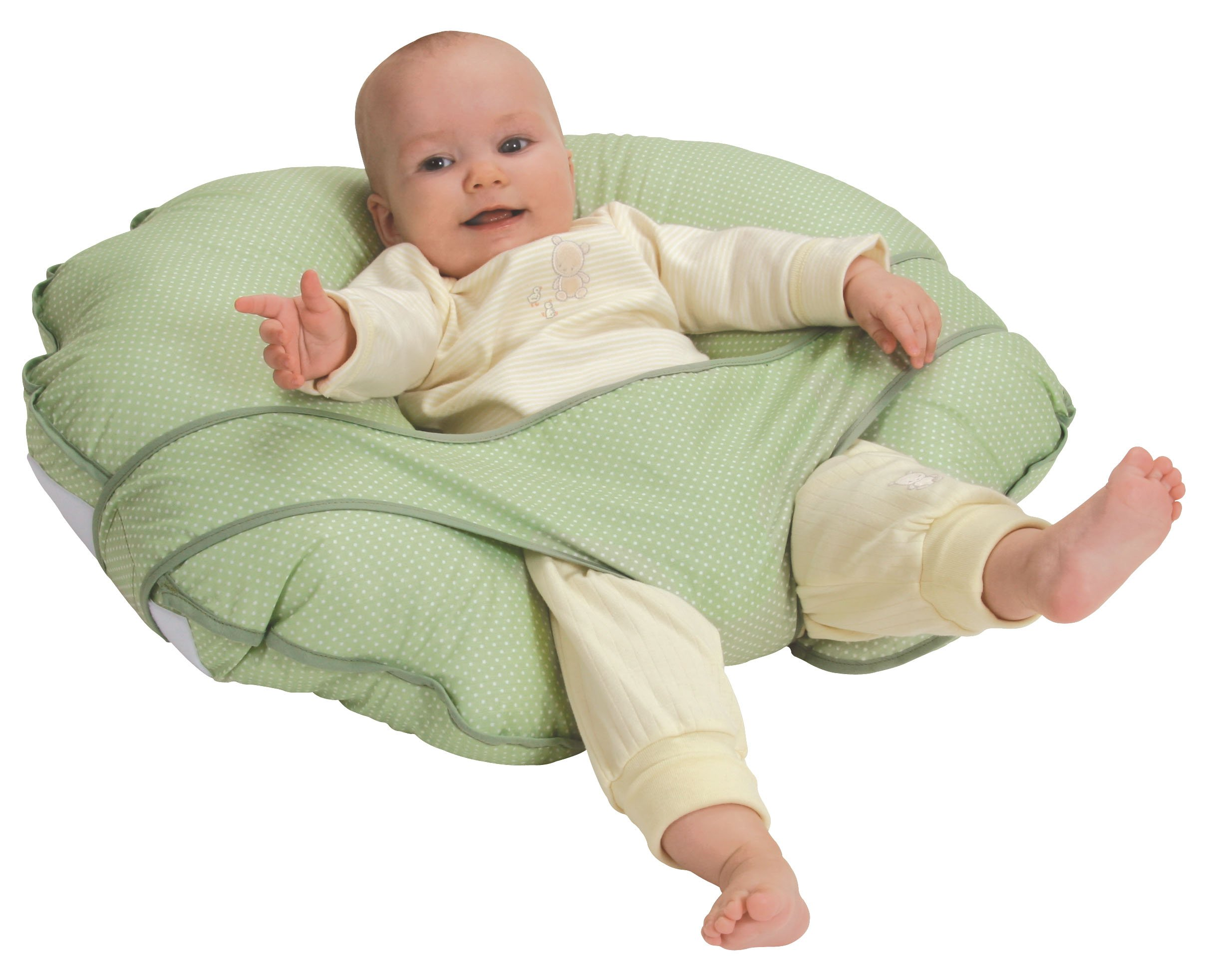 Leachco Cuddle-U Basic Nursing Pillow and More, Sage Pin Dot by Leachco