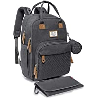 Diaper Bag Backpack, RUVALINO Neutral All-in-One Baby Bags for Boy Girl, Multifunction Large Travel Backpack with…