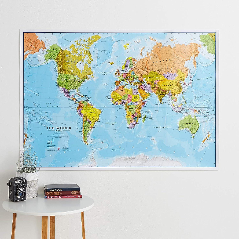 84,1 cm x 59,4 cm w alto 84.1cm x 59.4cm ancho h Mapa del mundo Maps International