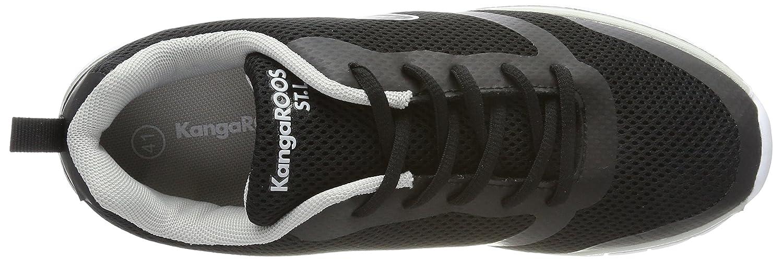 KangaROOS Damen Black/Dk K-March Sneaker Schwarz (Jet Black/Dk Damen Silver) c31673